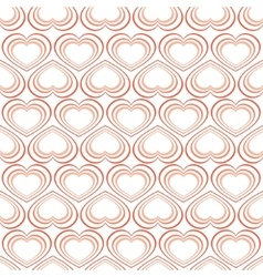 seamless background with hearts vector image vector image