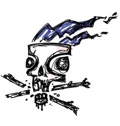 Skull ink vector