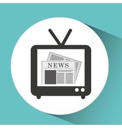 Tv retro news bubble speech design vector