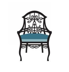 Vintage chair furniture vector