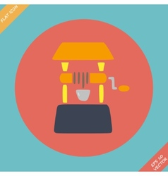 Well icon - Flat design vector image