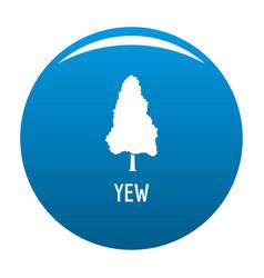 Yew tree icon blue vector