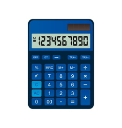 Calculator is made of blue plastic vector image