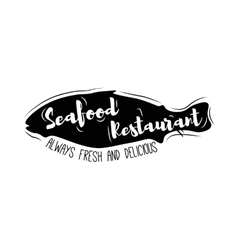 Silhouette of Fish Seafood Restaurant logo vector image
