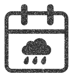 Rainy day grainy texture icon vector