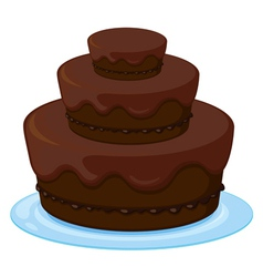 A birthday cake vector