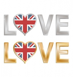 love Great Britain vector image