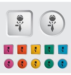 Human icon 2 vector image