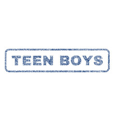 Teen boys textile stamp vector