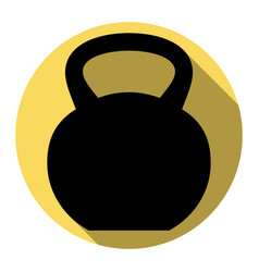Fitness dumbbell sign  flat black icon vector