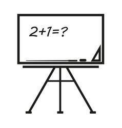 School board sign black icon vector