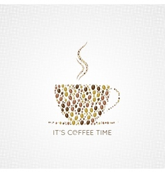 Coffee cup beans design background vector