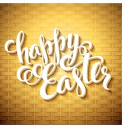 Easter greeting with eggs vector image