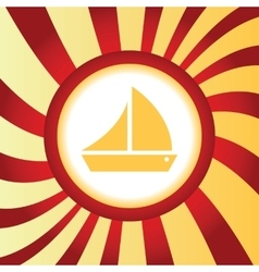 Sailing ship abstract icon vector