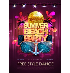 Disco background disco party poster vector