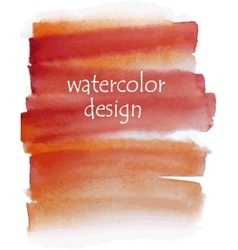 Orange watercolor background for your design vector
