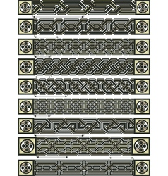Celtic design borders vector