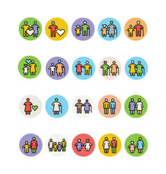 Family Icons 4 vector image