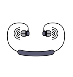 Earphones isolated icon design vector
