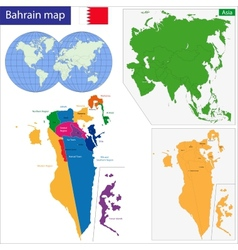 Bahrain map vector image vector image