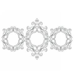 Baroque Rococo frame decor vector image