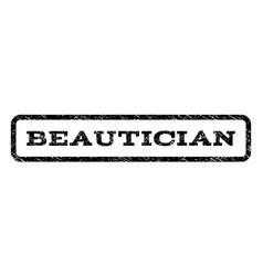 Beautician watermark stamp vector
