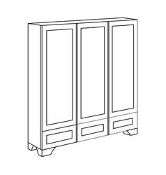 Bedroom wardrobe for clothingbedroom furniture vector