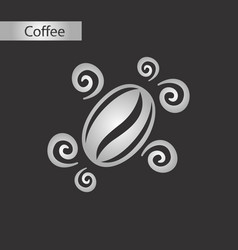 Black and white style bean coffee logo vector