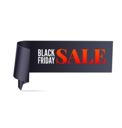 Black Friday Sale twisted banner vector image
