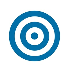 Blue target icon vector