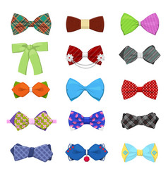 Bow ties set for celebration and party vector
