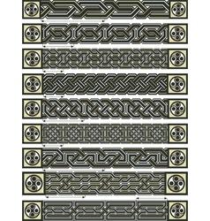 celtic design borders vector image vector image