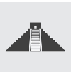 Chichen itza icon vector