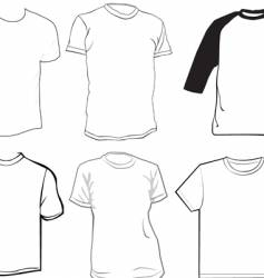 clothes template vector image vector image