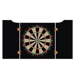 Dartboard cabinet vector image