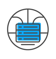 Data stream icon with stacked servers sign vector