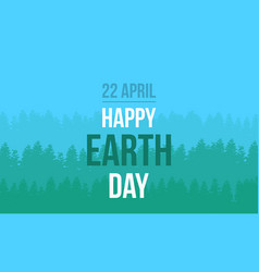 earth day with tree style vector image vector image