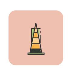 flat color transamerica pyramid icon vector image vector image