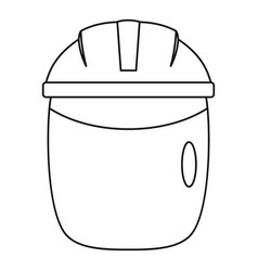 Glass welding mask icon outline vector