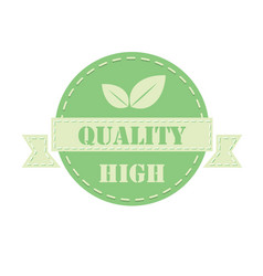 Green label high quality vector