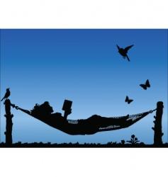 hammock sky vector image