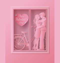 love and happy valentine day vector image