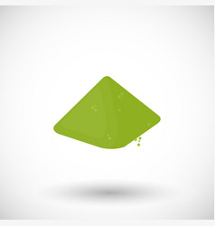 Matcha tea powder flat icon vector