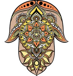 Multicolored hamsa vector