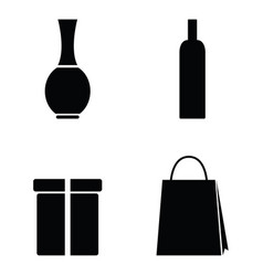packaging icons on white background vector image vector image