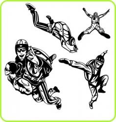 Parachute jump vector