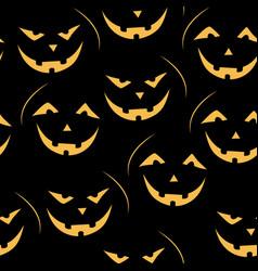 scary jack-o-lantern pattern vector image vector image
