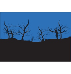 Silhouettes of autumn tree vector image