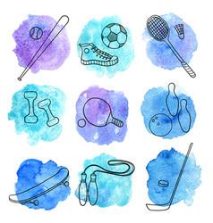 Sport doodle set vector