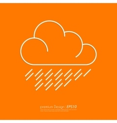 Stock Linear icon cloud vector image vector image